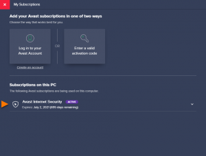 avast ultimate license